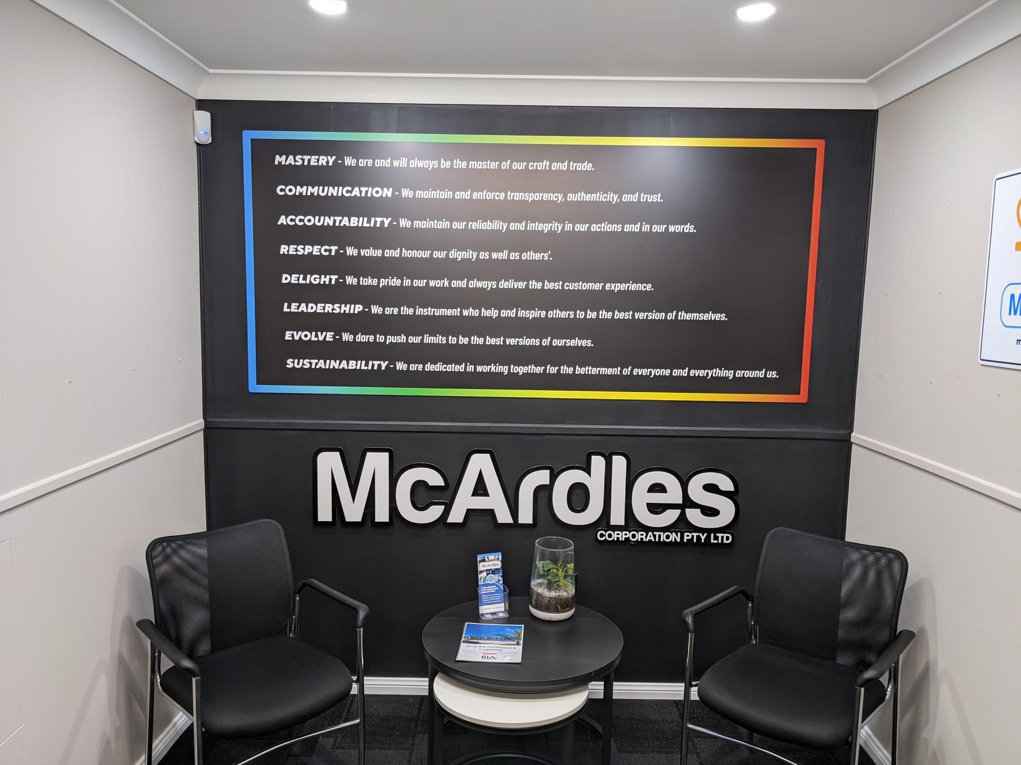 McArdles Core Values